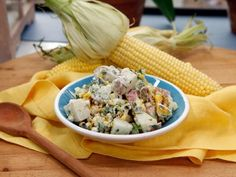 Get Grilled Corn and Poblano Potato Salad Recipe from Food Network
