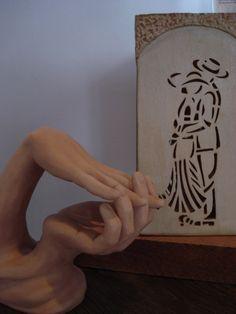 """""""Escultura Desejo"""" e """"Vaso Encontro"""", do trabalho """"Dualidades"""", de Darlene Maldonado."""