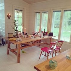 #dinner is over, #nordiclight is finally here though. Also love the new #table…