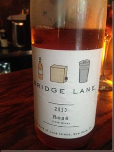 2013 Bridge Lane Rosé - North Fork Long Island, 100% Cabernet Franc, beautiful strawberry notes, delightfully dry, perfect summer wine