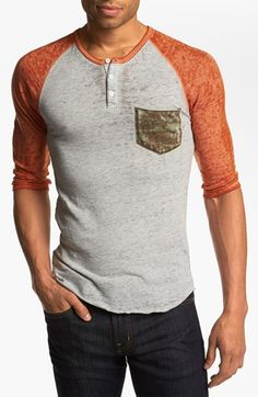 'Burnout' Quarter Sleeve Henley