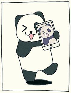 Tongue sticking out pose Panda Kawaii, Cute Panda, Kawaii Cute, Cute Cartoon Drawings, Animal Drawings, We Bare Bears, Kung Fu Panda, Love Illustration, Cute Images