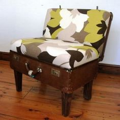 chair from old suitcase...cool