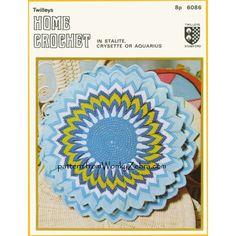 Crochet Cushion - blue pointed