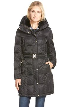 Marc New York 'Mercer' Coyote Fur Trim Down & Feather Fill Coat ...