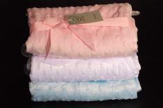 Fleece Dimple Baby Blanket Luxury Satin Trim Pram Cot Crib Super Top Quality New