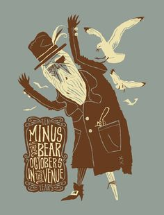 Minus The Bear - Gig Poster