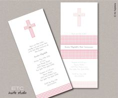 Baptism & First Communion Invitation. $3.75, via Etsy.