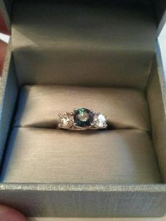 """""""My boyfriend surprised me with this ring on Christmas as my engagement ring. I had no idea."""""""