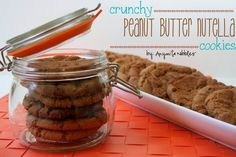 Crunchy Peanut Butter #Nutella Cookies | Anyonita Nibbles | These delicious cookies are crispy on the outside & chewy inside & they're made in the food processor.