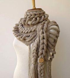 Шарф КОСА + + + | Irish crochet &