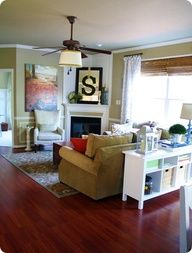 move IKEA Console Table behind the couch...