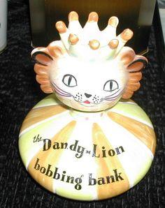 "Bobble Head Bank ""Dandy Lion""  by Holt Howard"
