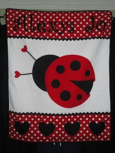 Sewing Ideas | Project on Craftsy: Lady Bug Applique Blanket