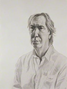 Alan Sidney Patrick Rickman    by Stuart Pearson Wright  pencil, 2004-2005