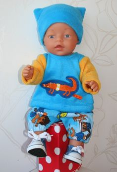 Baby Born doll in fleece outfit