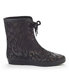 Loving this Henry Ferrera Matte Gold Blooming Rain Boot on #zulily! #zulilyfinds