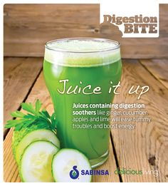 Add ginger, cucumbers, apples and lime to juices + smoothies to ease #digestion and boost energy. #sabinsa #nutrition #slowdown #healthy #livewell