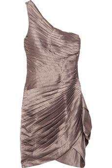 Rare Opulence pleated satin dress