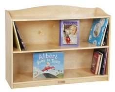 Stylish, single-sided bookcase fits flush against the wall, has 3 display shelves each approximately deep, and features a top ledge for storing books or toys. One adjustable shelf and two fixed shelves. Constructed of birch plywood, the unit fe 3 Shelf Bookcase, Kids Bookcase, Bookshelves, Bookshelf Ideas, Playroom Furniture, Toddler Furniture, Furniture Deals, Toy Storage Boxes, Kids Storage