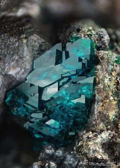 Veszelyite crystals                                                                                                                                                      More