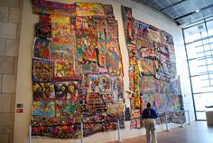 Narrative Quilt by Aminah Robinson at the Underground Railroad Freedom Center, Cincinnati, Ohio