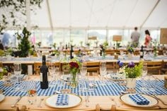 Rustic Country Marquee Foliage Gingham Wedding http://www.sophieduckworthphotography.com/
