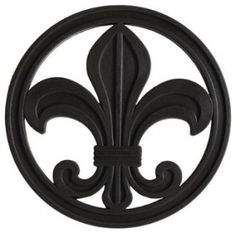 "The sole inspiration design for my bathroom. I'm calling the theme ""Paris, Fleur de Lis"". Black & white. Classic, sophisticated."