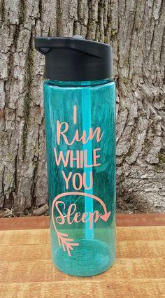 I Run While You Sleep 24 ounce sports water bottle - Kelly Belly Boo-tique  - 1 http://www.ebay.com/itm/Rainbow-Ocean-Nectar-Marine-Phytoplankton-/221649542140?