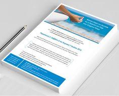 Single sided leaflet Leaflet Layout, Leaflet Design, My Portfolio, My Job, Graphic Design, Brochure Design