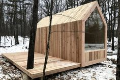 Tiny House Movement and Why it's so Popular - Rustic Design Tiny Cabins, Tiny House Cabin, Cabins And Cottages, Tiny House Living, Tiny House Design, Modern Cabins, Small Cabin Designs, Eco Cabin, Modern Tiny House