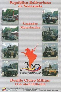 Postal: Unidades Motorizadas 5/6 (Venezuela) (Ipostel - Military Civic Parade April 19, 1810 - 2010) Col:ve_ipostel_DCM_05