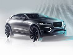 Jaguar C-X17 Concept design Sketch