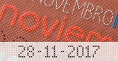 Use the Cross Stitch Writer to personalize your cross stitch project with your name in stitches.  http://www.stitchpoint.com/eng/tool/alph/cross-stitch-writing-tool.php