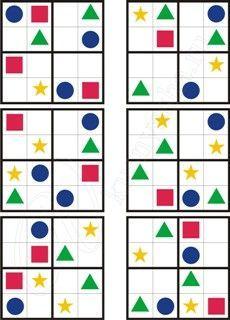 """Судоку """"Веселая геометрия"""" 4х4 » Для детей и их родителей"""