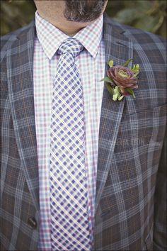 Style Snapshot: Plaid Pandemonium -  This #groom isn't even a little afraid of pattern.