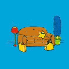Check out the design Springfield Still Life by Alvaro Arteaga Sabaini available on Men's T-Shirt on Threadless Simpsons Drawings, Simpsons Art, Cartoon Network Adventure Time, Adventure Time Anime, Homer Simpson Beer, Parks And Recreation, Cultura Pop, Jack Frost, Beautiful Artwork