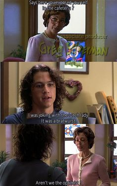 "And Ms. Perky was just so inappropriate. | 24 Reasons ""10 Things I Hate About You"" Was Absolutely Iconic"