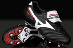 Mizuno Football Boots - Mizuno Morelia II - Soft Ground - Soccer Cleats - Black / White / Red....... In case its wet