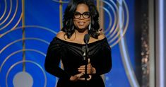 Oprah Winfrey accepted the Golden Globes' lifetime achievement award with a speech that began as a personal reflection and ended as a call to arms.