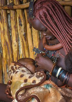 Himba Mother And Her Baby, Epupa, Namibia | Flickr - Photo Sharing!