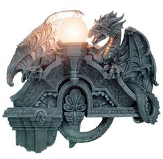 "Amazon.com: MEDIEVAL GOTHIC DRAGON LAMP 22-1/4""H, 93852 BY ACK: Home Improvement"