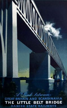 Little Belt Bridge Link Between Great Britain 1951 - www.MadMenArt.com features…