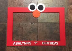 Elmo inspired photo prop frame by CamiesCreativeDesign on Etsy