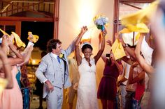 Wedding reception at #ChicBahamasWeddings. The couple is celebrating their wedding without any stress. Enjoy a perfect wedding with us : http://chicbahamasweddings.com/bahamas-wedding-photos/