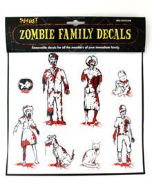 Zombie Family Decal Pack