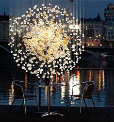 Bubbles in Space Lighting by Lasvit