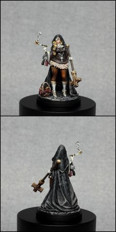 Kingdom Death Priestess by vardek Warhammer Figures, Warhammer Paint, Sci Fi Miniatures, Advanced Dungeons And Dragons, Grey Knights, Final Fantasy Characters, Diorama, Female Art, Female Models