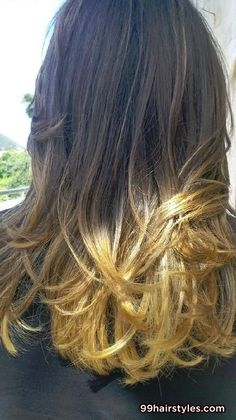 long ombre cute bangs hairstyle idea - 99 Hairstyles Ideas