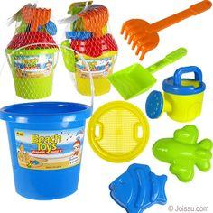 4Es Novelty 1 Dozen Beach Sand Pails And Shovels 7 Inch San... Assorted Colors